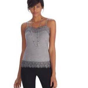 WHBM Lace Trim Sweater Cami
